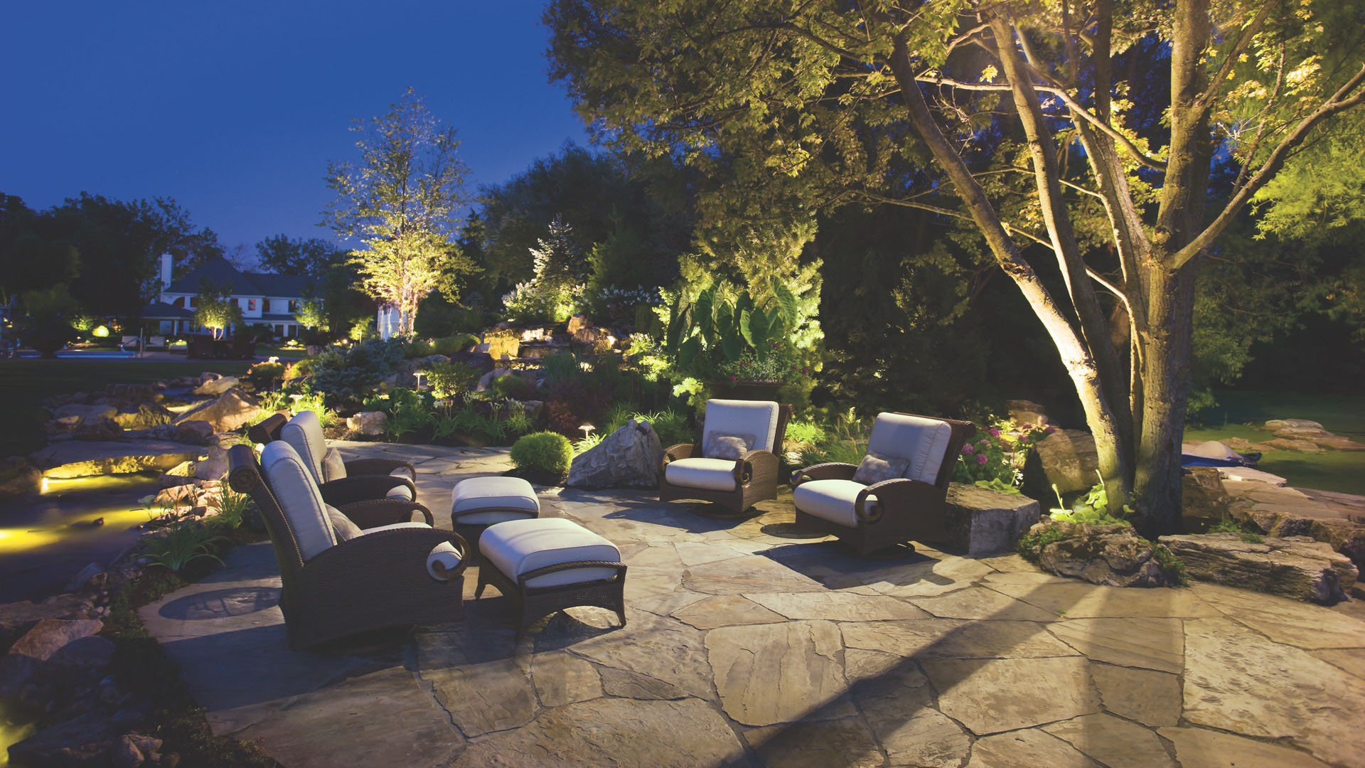 Outdoor Landscape Lighting Hardscape