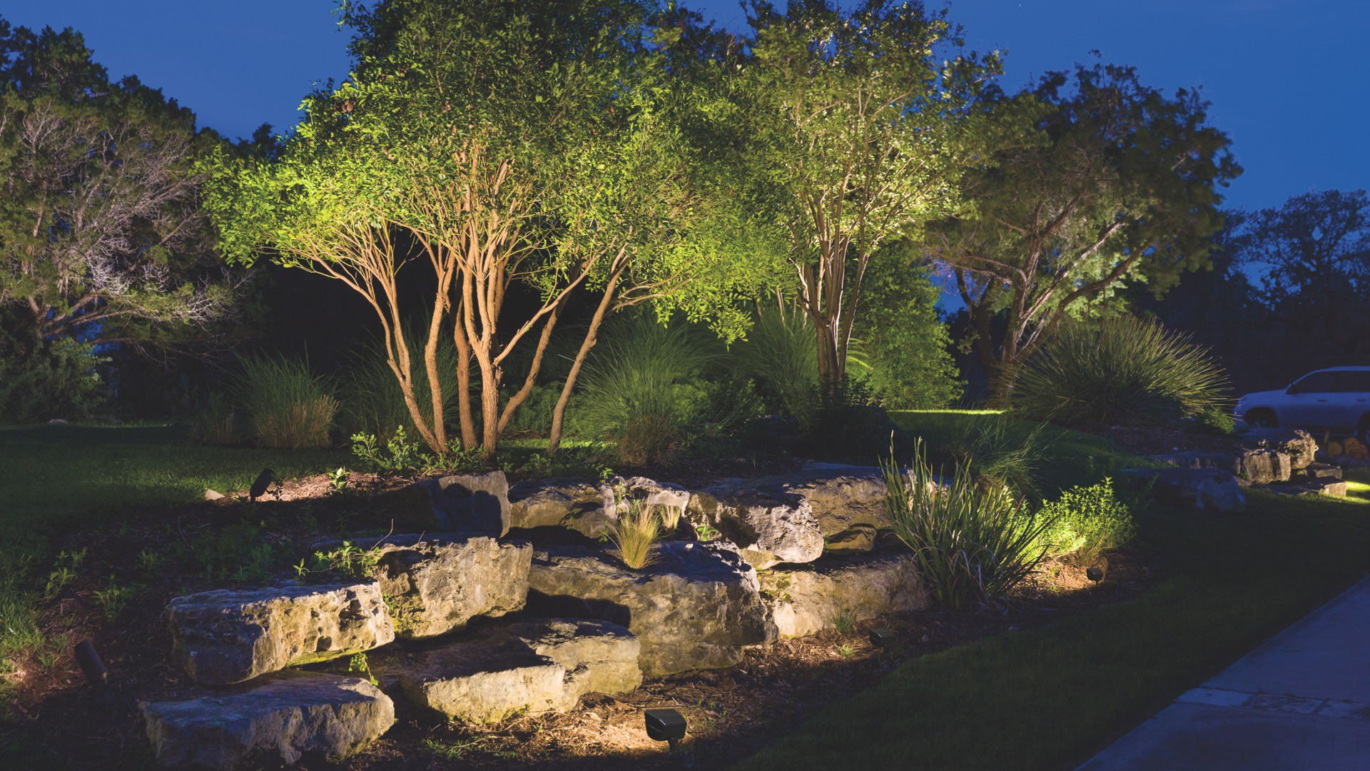 Outdoor Landscape Lighting – Hardscape, Path Lighting  Deck Lighting  Kichler Lighting