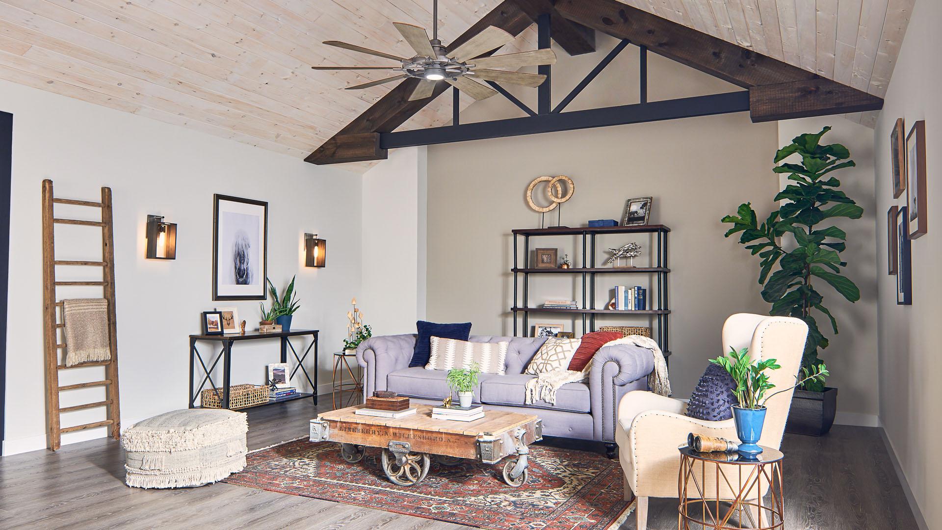 Ceiling fan kichler lighting - Size of ceiling fan for living room ...