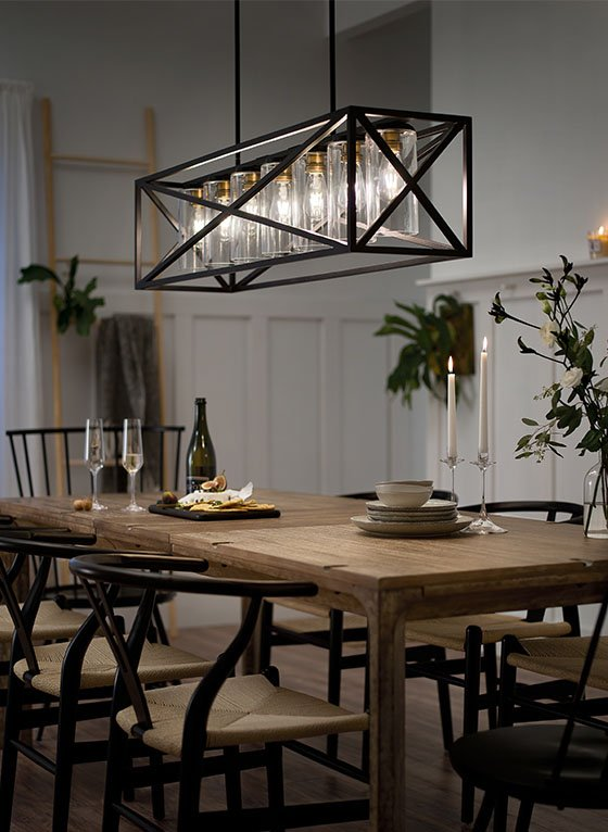 Bright Dining Room Scene