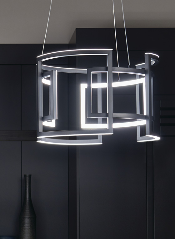 Night time Kichen image featuring Melko pendant 84133