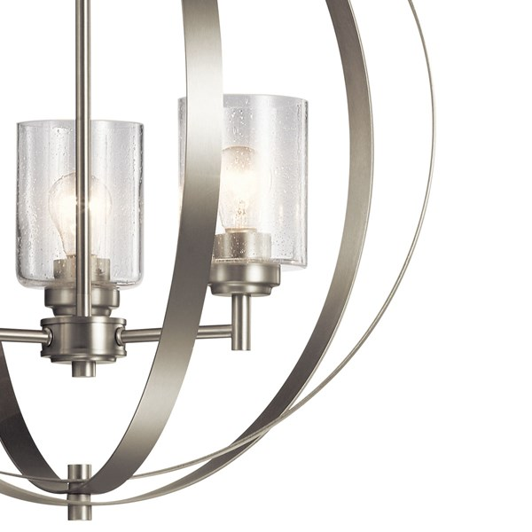 Winslow™ 3 Light Chandelier Brushed Nickel