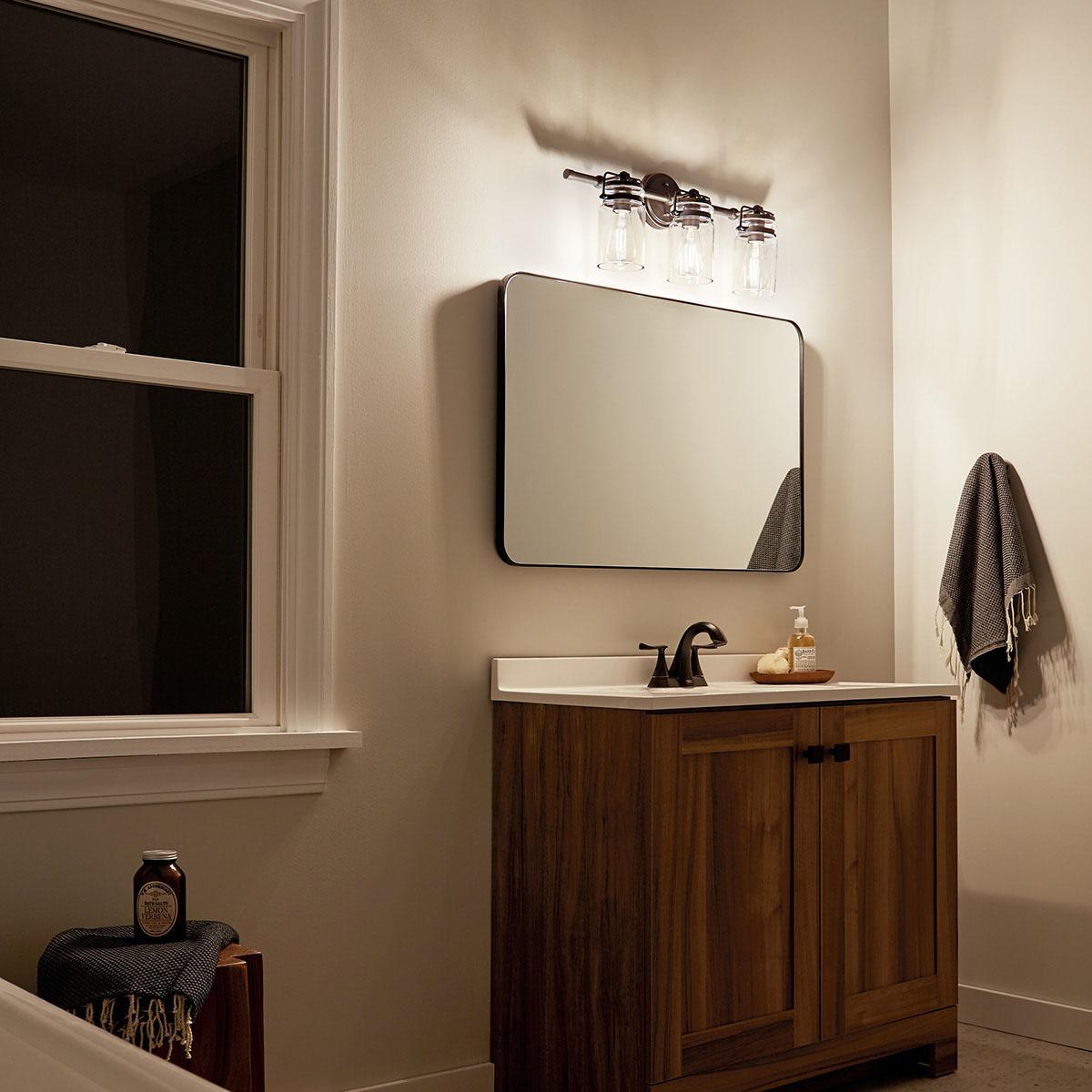 Brinley 3 Light Vanity Light Brushed Nickel Kichler Lighting