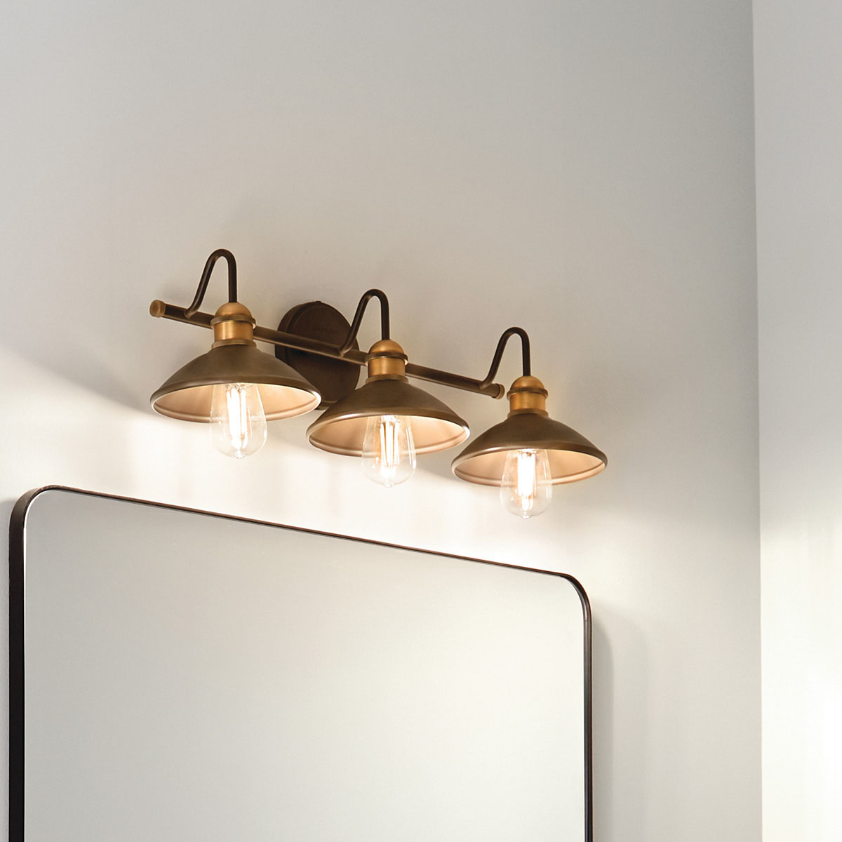 Kichler Lighting 45945OZ Three Light Bath from The Clyde Collection