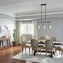 "Marika™ 16"" 3 Light Linear Chandelier Olde Bronze"