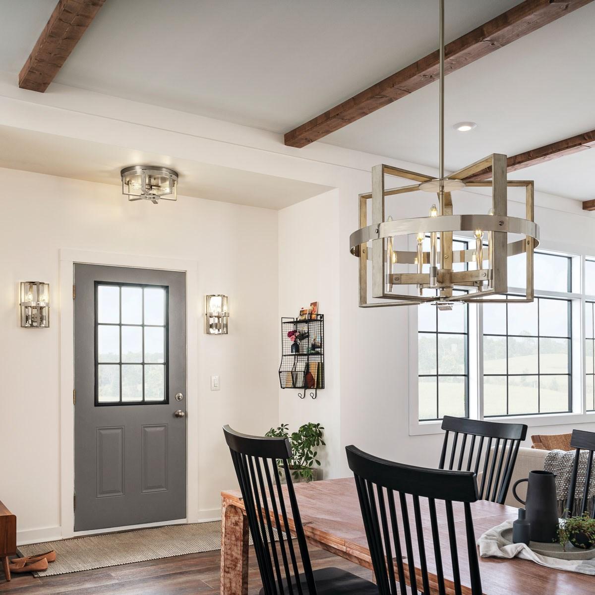 Peyton 2 Light Wall Sconce White Washed Wood | Kichler ... on Wood Wall Sconces Decorative Lighting id=54299