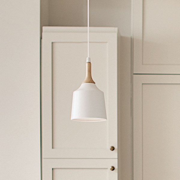 Danika 1 Light Mini Pendant White