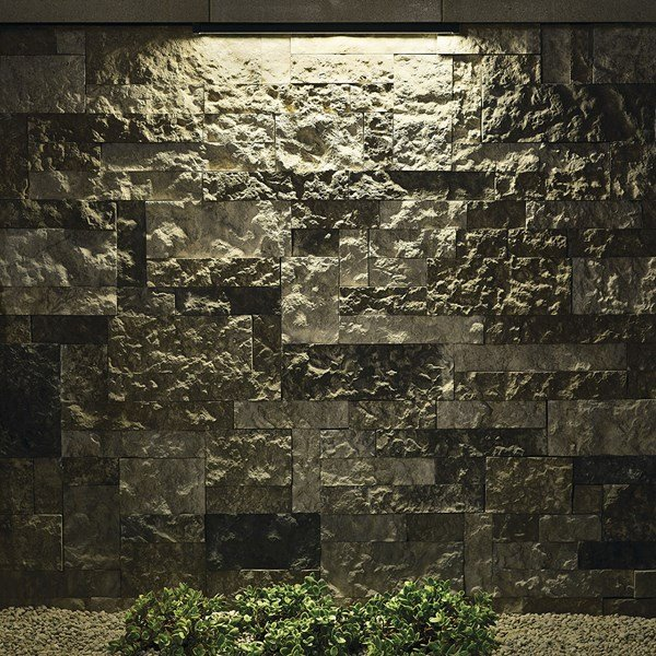 "12V 2700K LED 18"" Hardscape Textured Black"