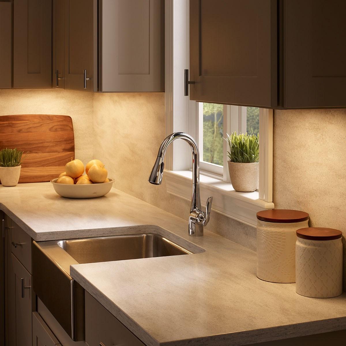 6u 30 2700k 3000k Led Cabinet Light Textured Nickel Kichler Lighting