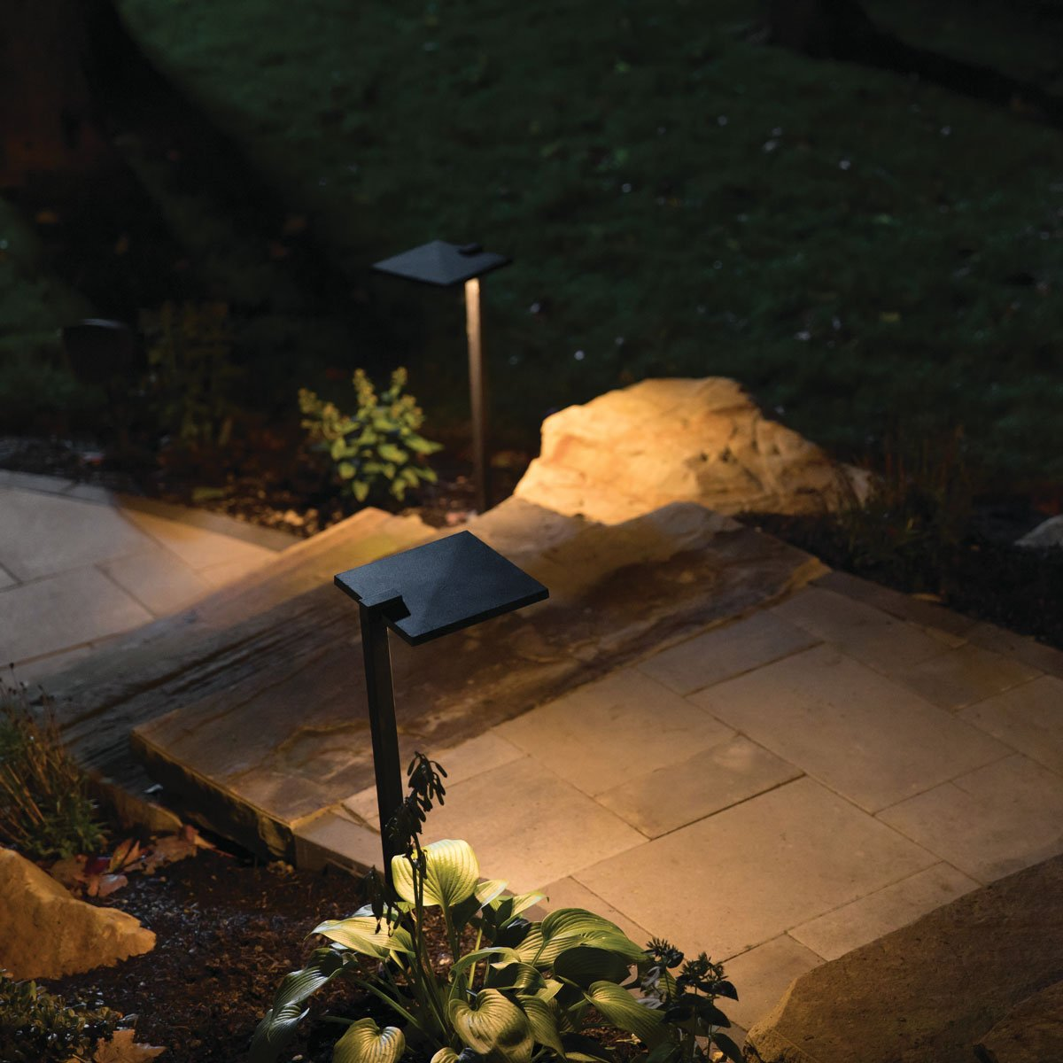 Outdoor Landscape Lighting Hardscape Path Deck