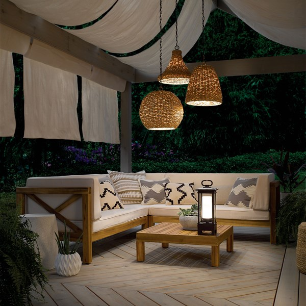 "Palisades™ 16.5"" 1 Light Pendant Natural Wicker"