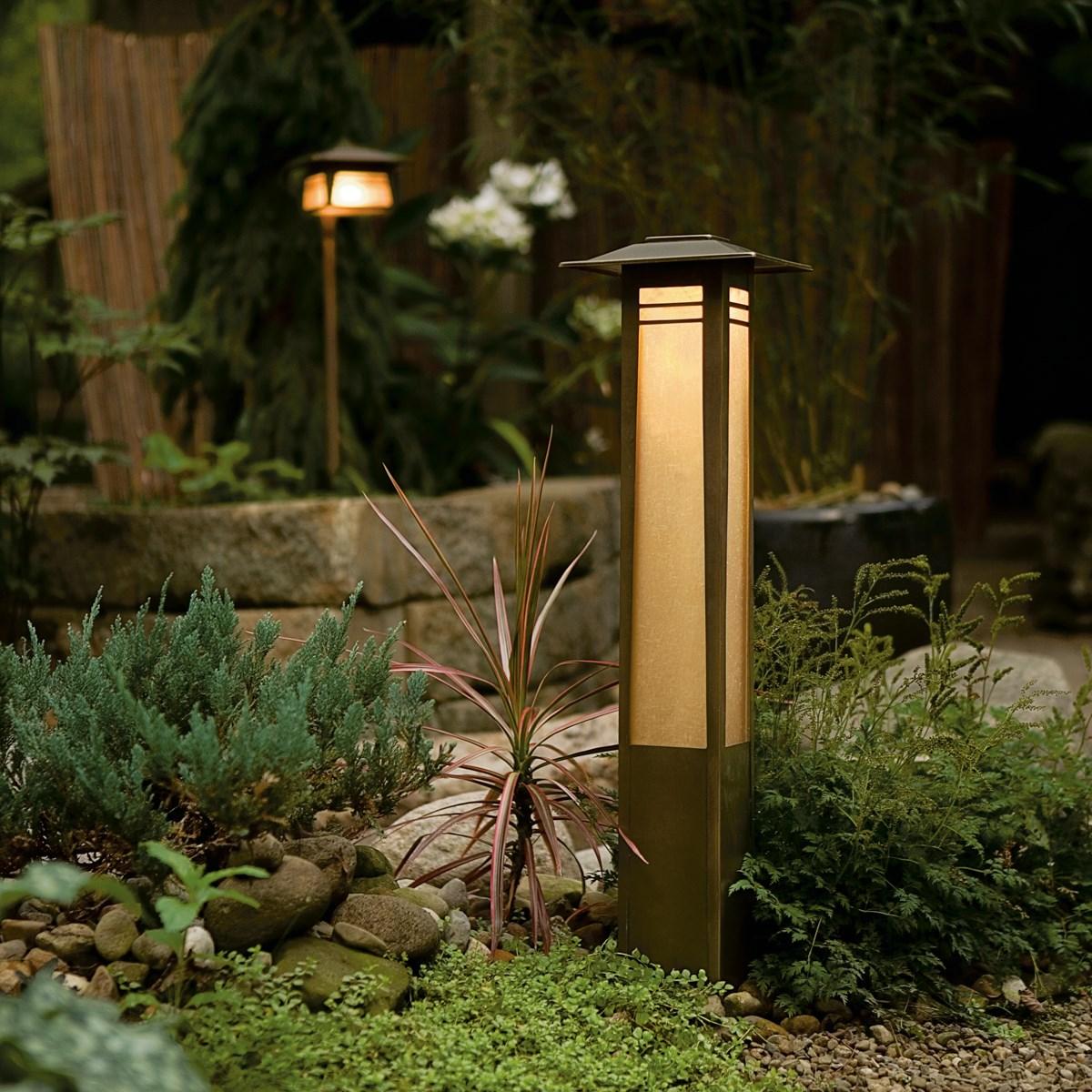 Zen Garden 12v Bollard Olde Bronze 174 Kichler Lighting