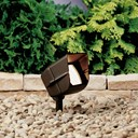 12V Mini Hooded Adjustable Wide Flood Textured Architectural Bronze