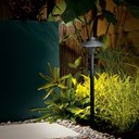 "12V Cast Brass 6"" Dome Path Light Textured Black"