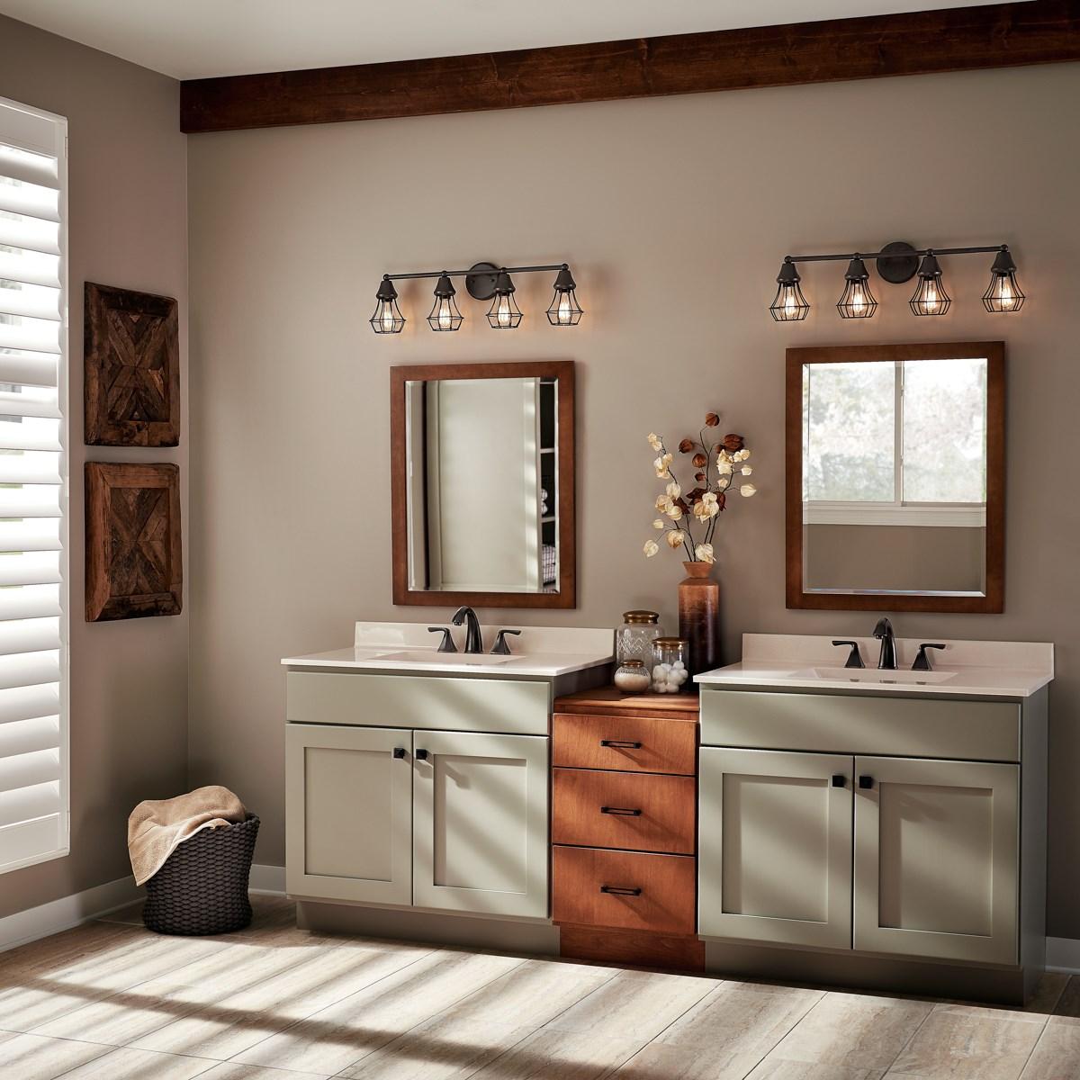 Bayley™ 4 Light Vanity Light Olde Bronze® | Kichler Lighting