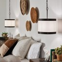 Rayleigh 1 Light Pendant Fabric Shade Olde Bronze