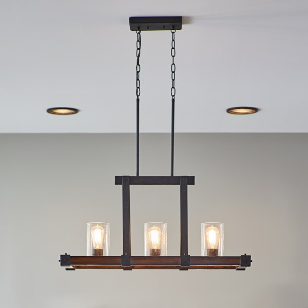 Barrington™ 3 Light Kitchen Island Light Distressed Black