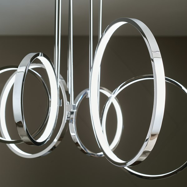 Bonham 6 Light Chandelier Chrome