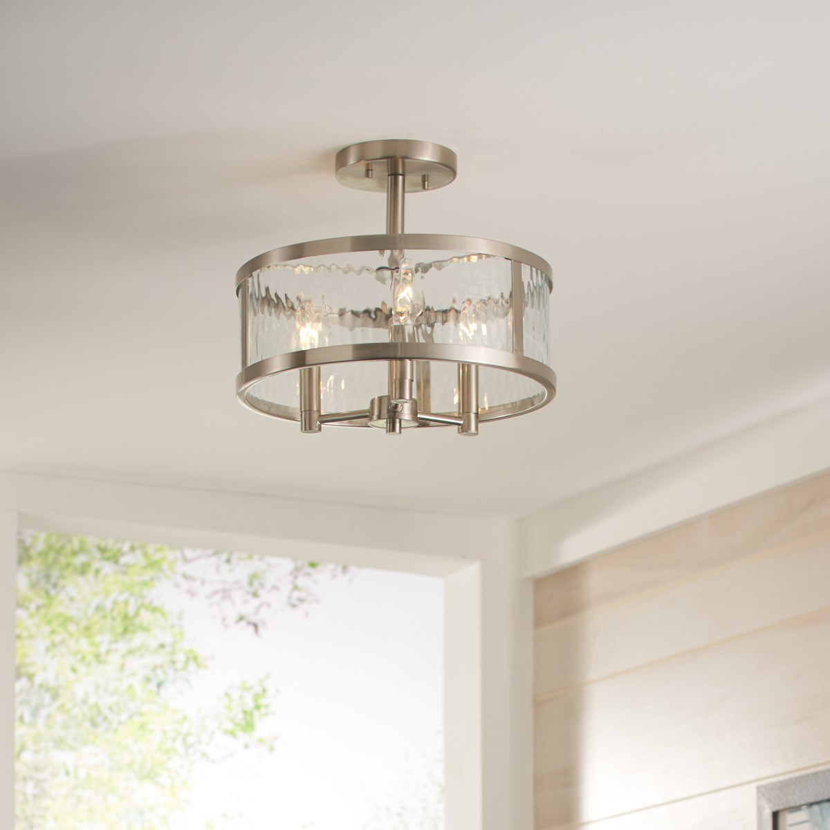 Marita 3 Light Semi Flush Brushed Nickel