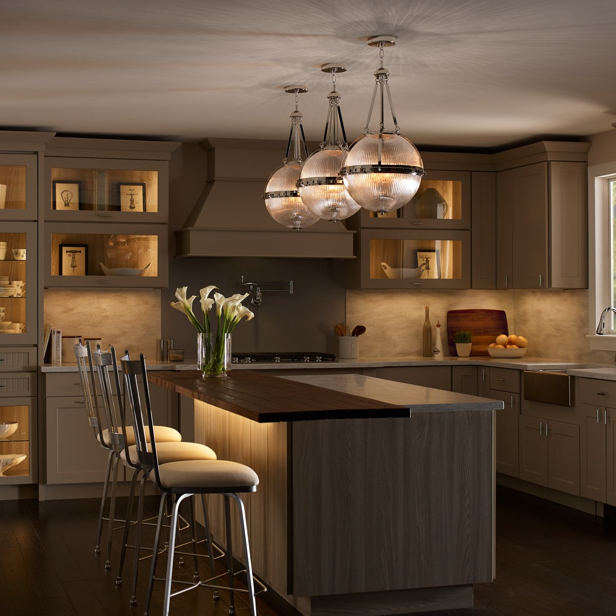 Aster 3 Light Pendant In Polished Nickel™