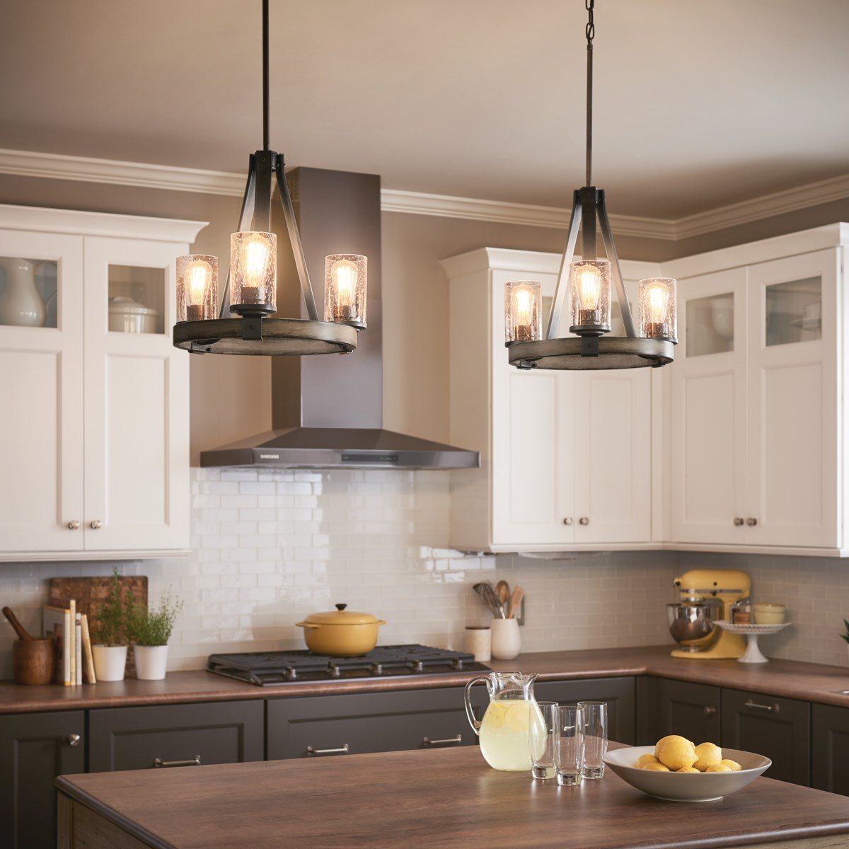 Barrington 3 Light Chandelier Anvil Iron Kichler Lighting