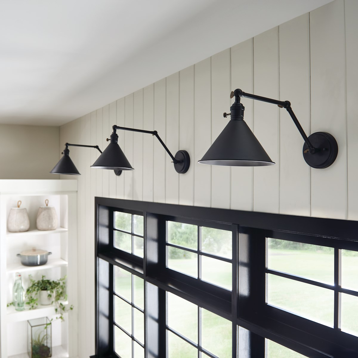 Ellerbeck™ 1 Light Wall Sconce Black | Kichler Lighting