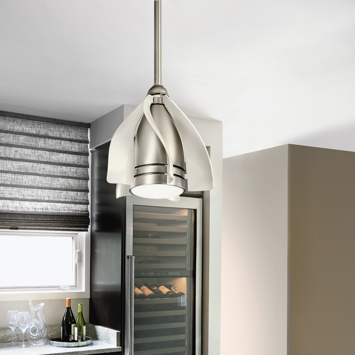 """Terna™ LED 15"""" Fan Brushed Nickel"""