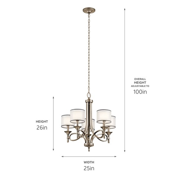 Lacey™ 5 Light Chandelier Antique Pewter