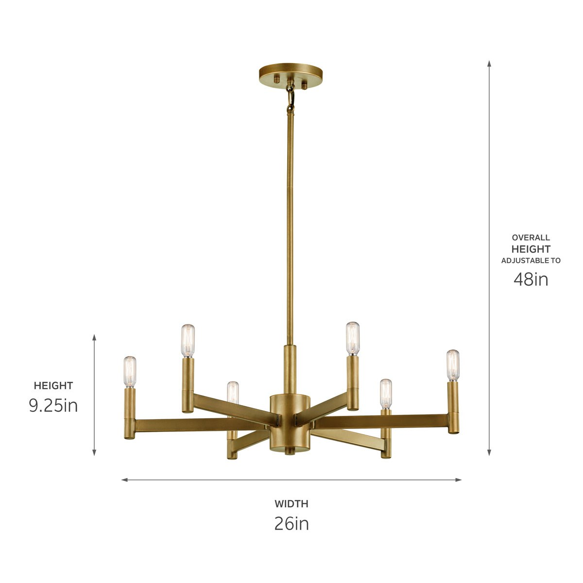 Erzo™ 6 Light Chandelier Natural Brass | Kichler LightingKichler Lighting