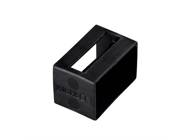 Tape Light U Track Endcap Black