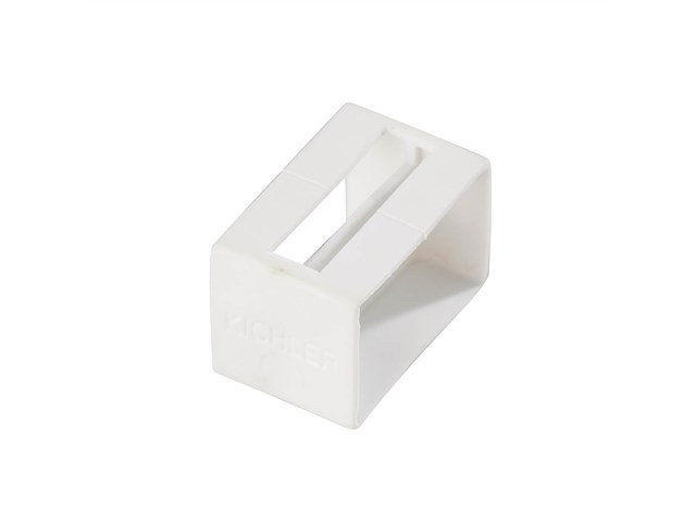 Tape Light U Track Endcap White