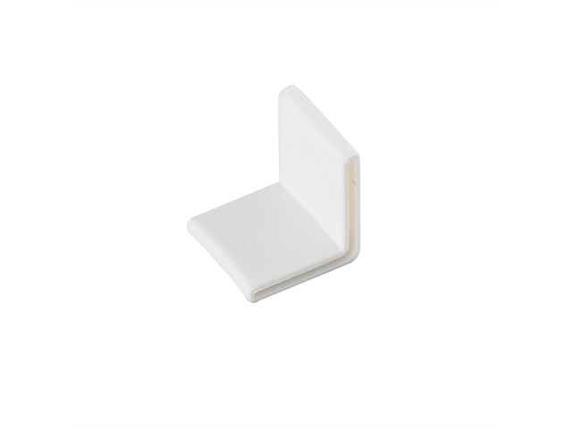 Tape Light 90 Degree Track Endcap White