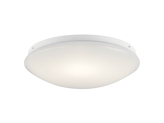 "Ceiling Space 14"" LED Flush Mount White"