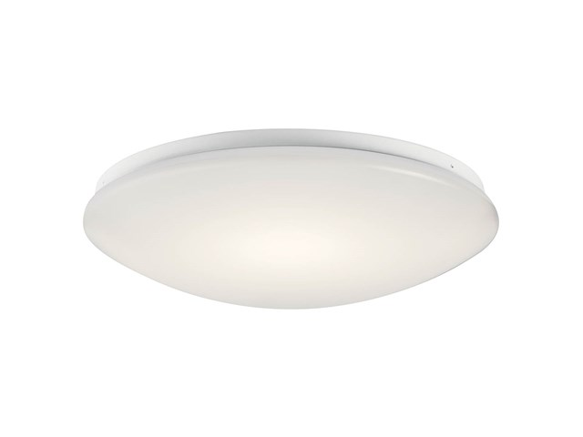 "Ceiling Space 16"" LED Flush Mount White"