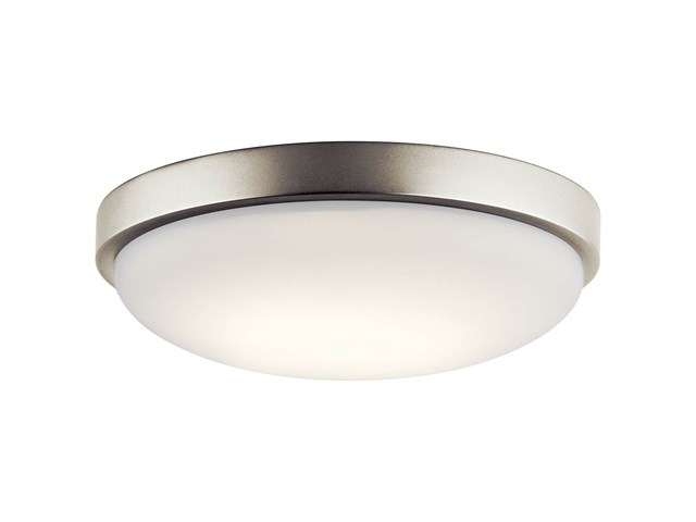 "Ceiling Space 11.5"" LED Flush Mount Brushed Nickel"