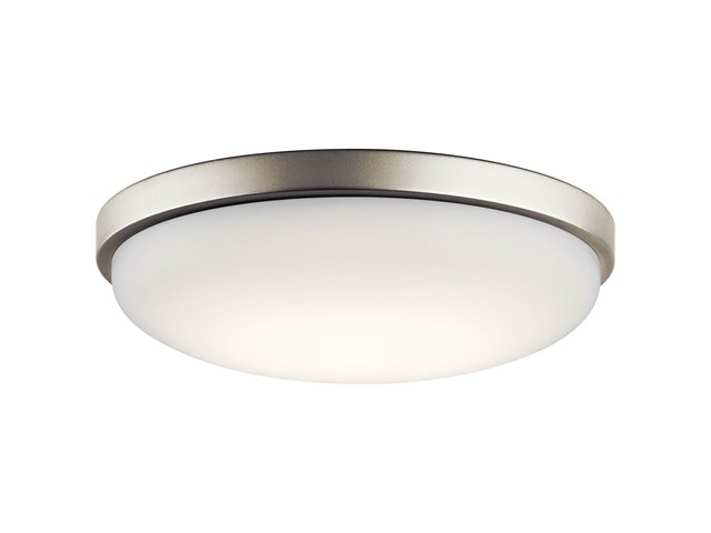 "Ceiling Space 14.5"" LED Flush Mount Brushed Nickel"