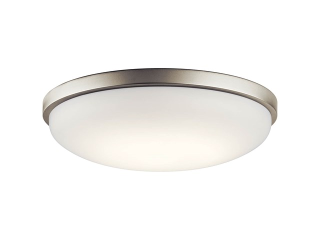 "Ceiling Space 17.75"" LED Flush Mount Brushed Nickel"