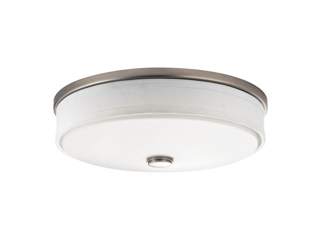 "Ceiling Space 13"" LED Flush Mount Brushed Nickel"