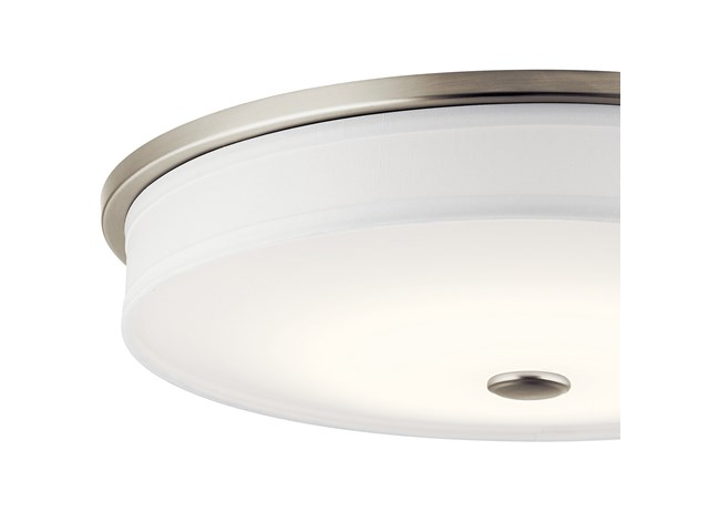 "Ceiling Space 17.25"" LED Flush Mount Brushed Nickel"