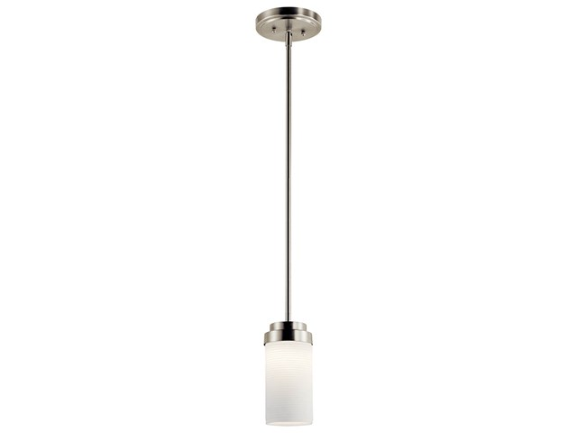 "4"" 1 Light LED Mini Pendant Brushed Nickel"