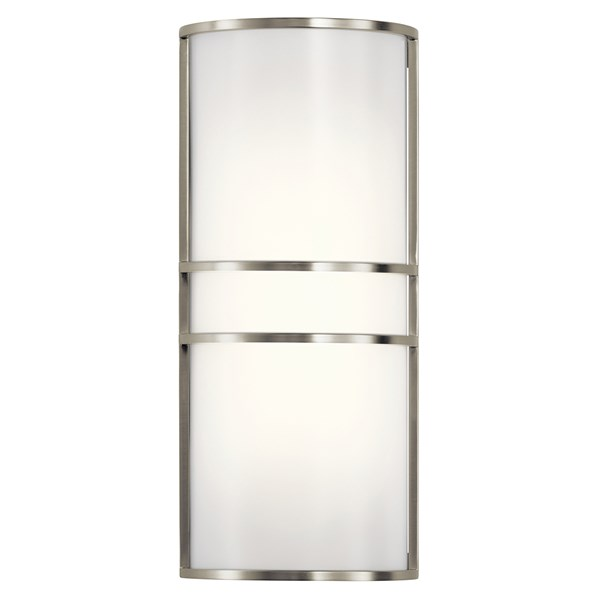 2 Light LED Wall Sconce Brushed Nickel