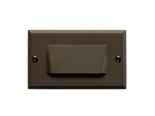 Shielded LED Step Light Architectural Bronze