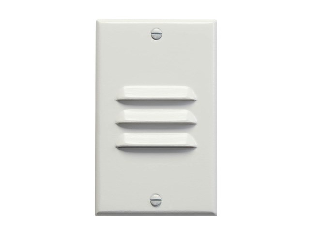 Vertical Louvered LED Step Light White