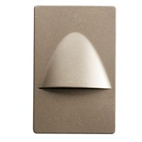 "5"" Dimmable and Screwless LED Step Light Brushed Nickel"