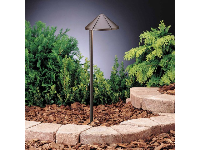 Side Mount 12V Path Light 6 Pack Textured Architectural Bronze