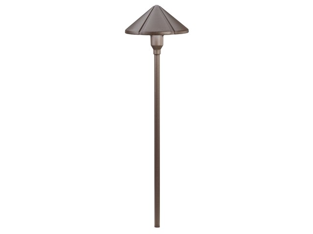Center Mount 12V Path Light Textured Architectural Bronze