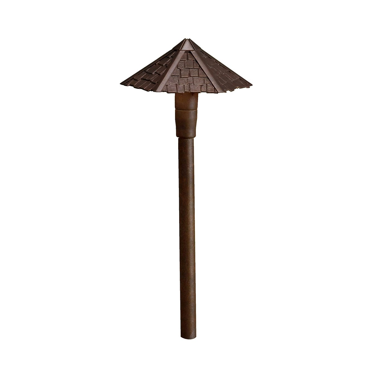 12V Thatched Roof Path Light Textured Architectural Bronze