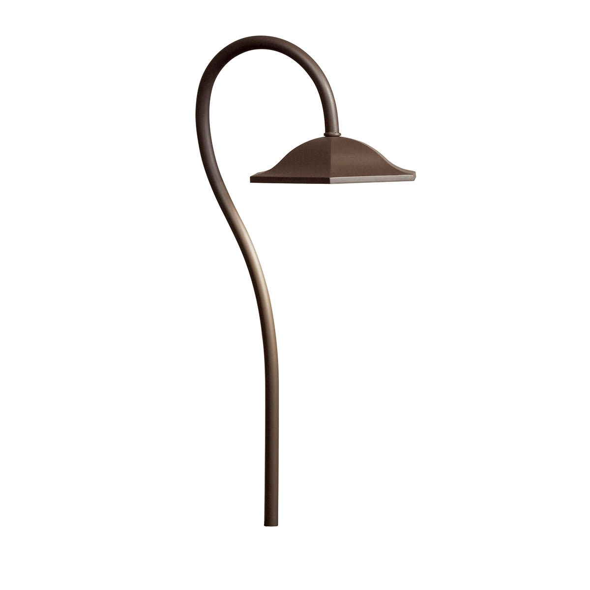 Shepherd's Crook 2700K LED Path Light Textured Architectural Bronze