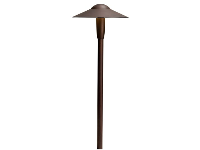 "8"" Dome 3000K LED Path Light Textured Architectural Bronze"
