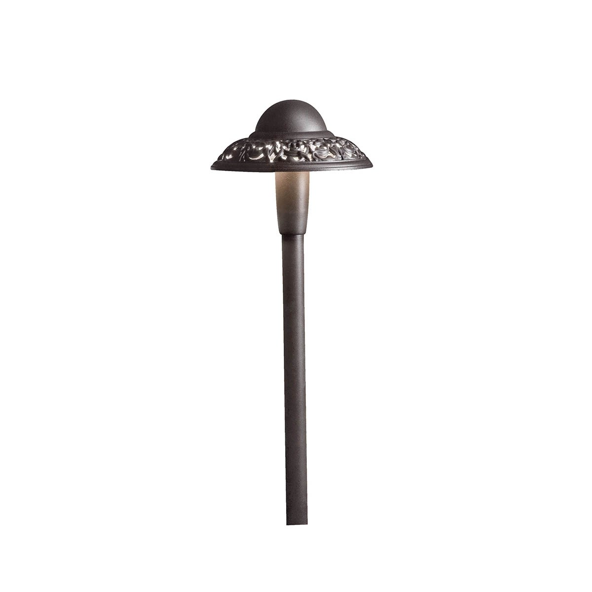 Pierced Dome 3000K LED Path Light Textured Architectural Bronze